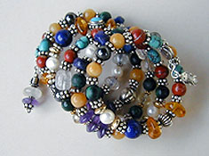 Mixed gemstone bracelet by Vicky Jousan