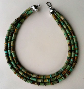 Chinese Turquoise and Sterling Silver Necklace